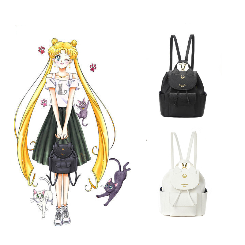 2017  Sailor Moon Isetan sepcial collaboration 25th Anniversary luna backpack bag charm moon flac jeans