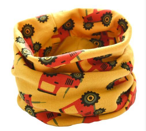 Новинка; сезон осень-зима; шарф из хлопка для девочек; Детский шарф; нагрудный шарф для мальчиков и девочек с круглым кольцом; милый детский шарф с воротником; Bufandas - Цвет: yellow truck