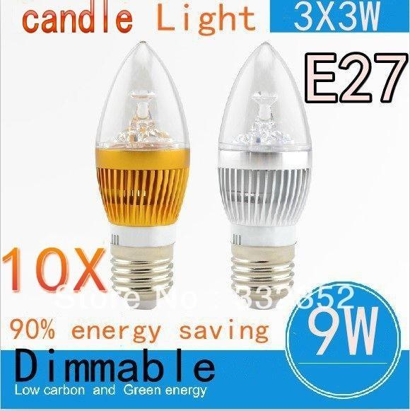 Free shipping 10pcs/lot Factory price High Brightness E27 E14 CREE 9W 12W 15W Led candle light bulb 85-265V LED lamp light bulbs