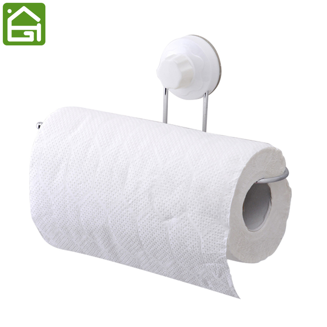 wall mounted toilet paper holder. Strong Chrome Stainless Steel Vacuum Suction Cup Roll Paper Holder Wall Mounted Bathroom Toilet Towel