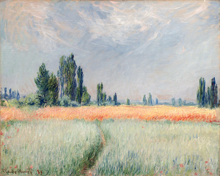 scenery canvas painting landscape paintings masterpiece reproduction wheat field by Claude Monet