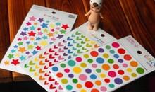 1 Set Colorful Heart Dot Star Scrapbooking Paper Sticker Set for DIY font b mobile b
