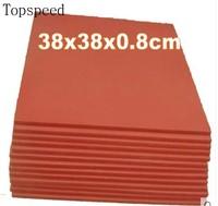 Almohadilla de silicona para máquina de prensado en caliente, esterilla de 38x38x0,8 cm, resistente a altas temperaturas para transferencia de calor por sublimación, 2 uds.