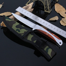 57HRC Hardness Sharp blade steel + wood handle Columbia 440 camping knives hiking hunting survival tactical straight knife