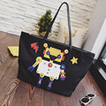 2017 Real Limited Soft New Arrival Pocket Two Interior Zipper Totes One Large Capacity Korean Robot Wings Tote Bags Personality