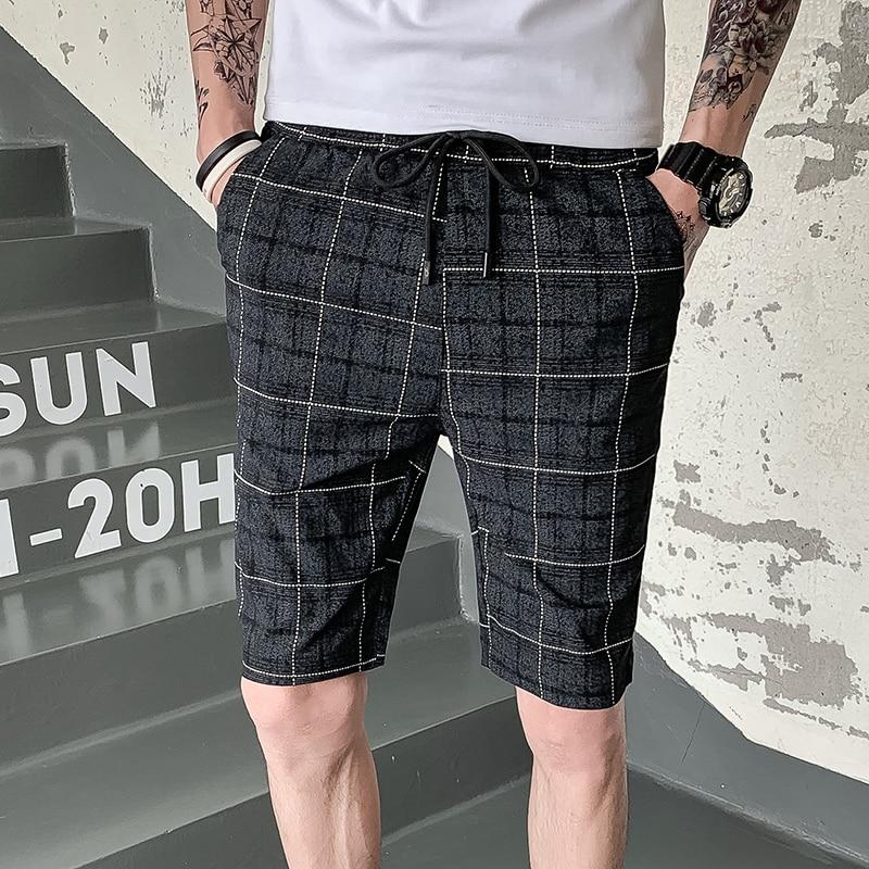 Casual Shorts Mens Plaid Breve Masculino 2019 Estate Pantalones Cortos Hombre Streetwear Breve Masculino Moda A Buon Mercato Cinese Morbido E Antislipore