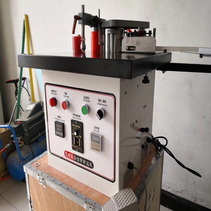 Machine de cerclage manuelle de bord de rupture de bande automatique Machine latérale de cachetage portative Machine de cachetage de bord en forme spéciale
