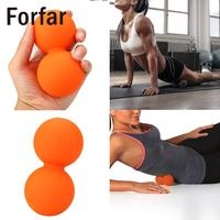 Forfar Double Lacrosse Myofascial Trigger Release Massage Cross Ball Exercise