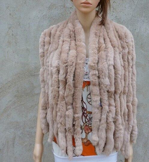 Натуральный вязаный шарф из кроличьего меха Рекс, женская зимняя теплая шаль из натурального меха,, KFP574