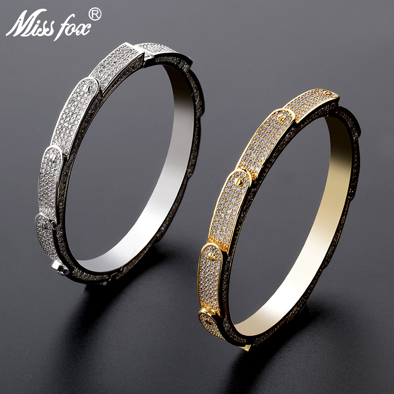 Missfox Fashion Hot Wheels Bracelet For Men Full Lab Diamond Style Wristband Cuff Bangles Steel Jewelry Accessori Man 2019 NewMissfox Fashion Hot Wheels Bracelet For Men Full Lab Diamond Style Wristband Cuff Bangles Steel Jewelry Accessori Man 2019 New