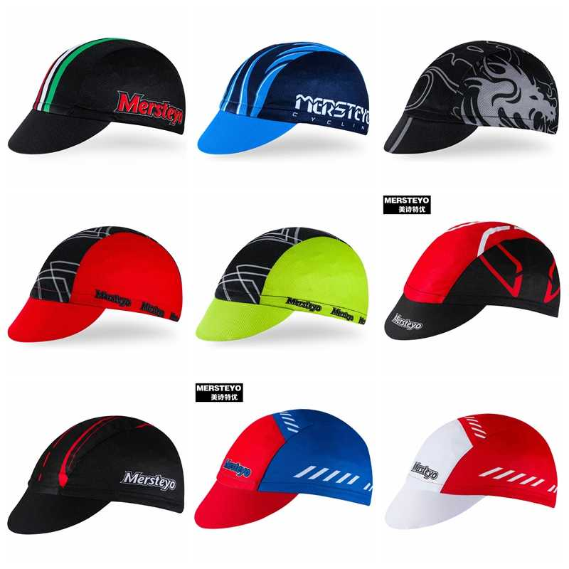 Summer Coolmax Racing Cycling Cap MTB Road Team breathable Pirate Hunting Caps Men Women Bicycle Wear Sun UV Bandana bike Hats