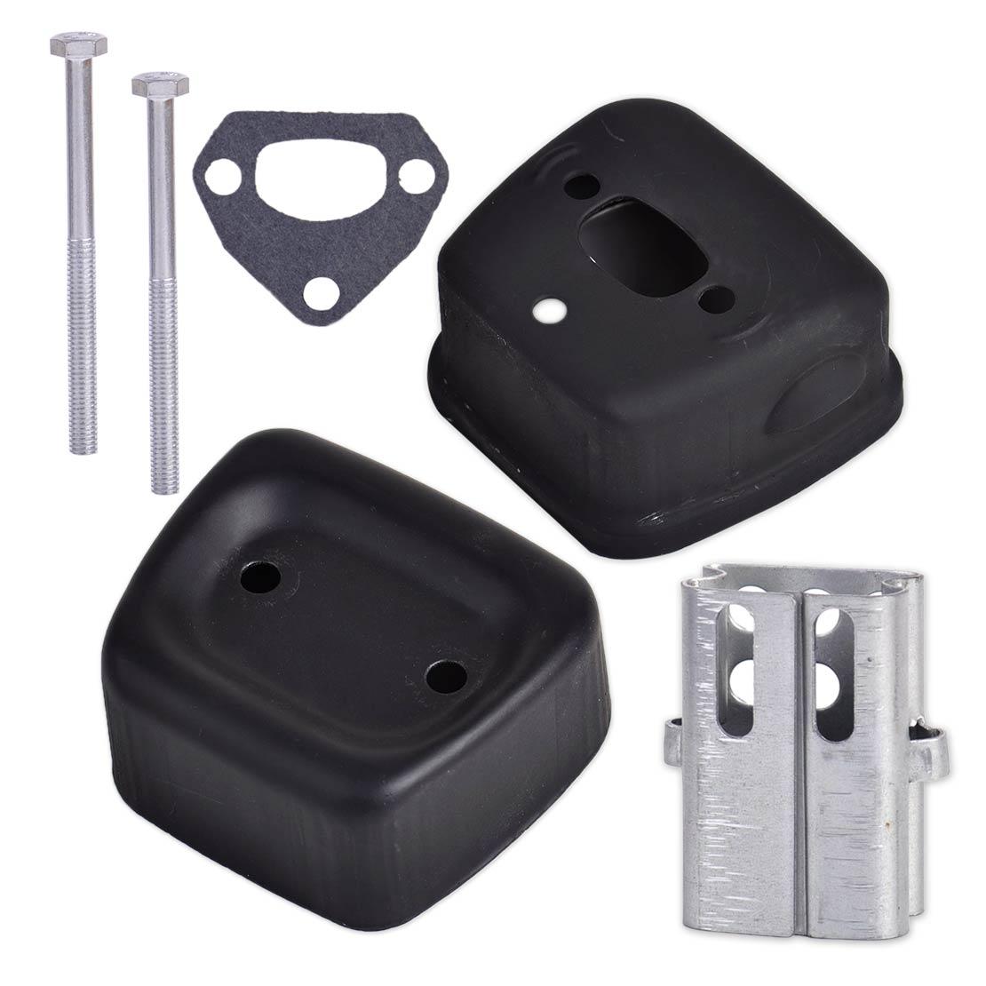 LETAOSK New Exhaust Muffler Gasket Bolt Kit Tool Fit For Husqvarna 142 137 141 36 41 Chainsaws