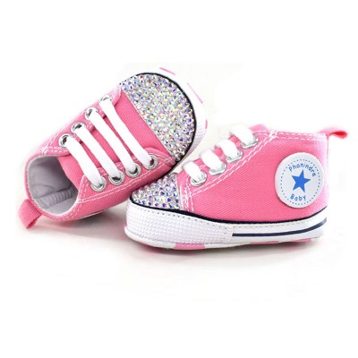 princess rhinestone pink baby Shoes handmade AB rhinestone Crystal baby toddler bling bling shoes kids fashion baby girl shoes