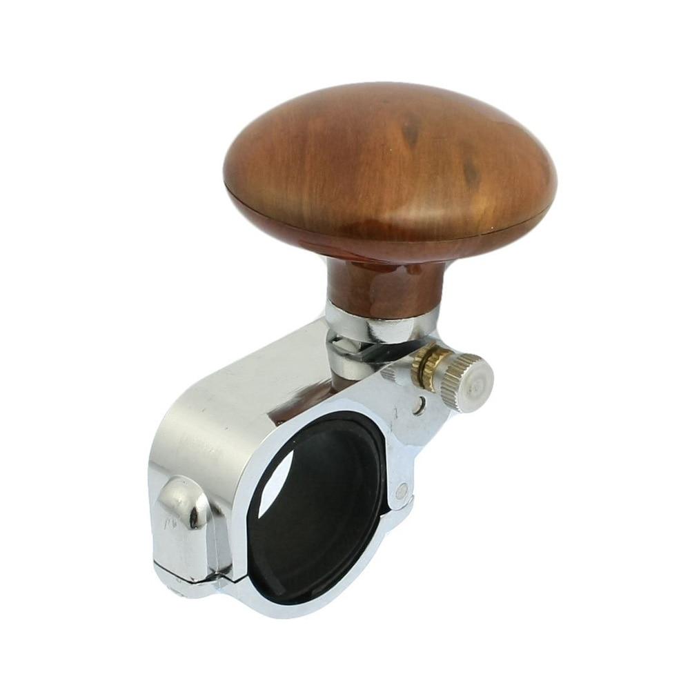 Car Power Handle Steering Wheel Knob Clamp Suicide Grip Spinner Brown