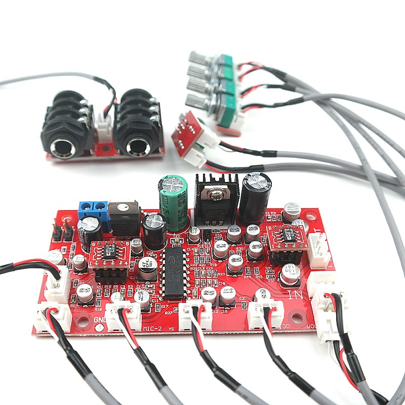 pt2399 digital microphone amplifier board op amp op275 karaoke plate reverb preamplifier. Black Bedroom Furniture Sets. Home Design Ideas