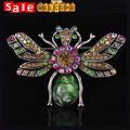 Big Colorrful Insect Animal Bee Brooch Pins Crystals ,Large Rhinestone Broaches for Women Wedding Jewelry Accessories Wholesale