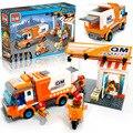 La ciudad de transporte express car 337 unids/set bloques de construcción diy ladrillos educativos niños juguetes compatible con legoe niños regalos de navidad