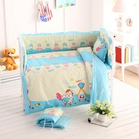 5pcs/set Baby Bumpers Cotton Toddler Bed Protectors Cartoon Kids Crib Cushions Baby Crib Bumper Baby Bedding Set Pillow Backrest