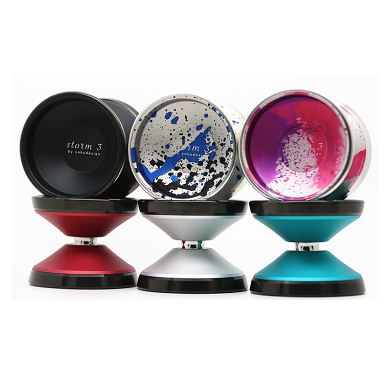 2018 New arrive YOKU YOYO storm3 yoyo Professional metal YOYO new colors Metal ring yoyo евгения коптелова лирика