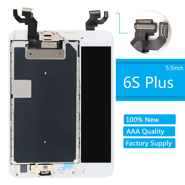 new product 4e0de f6b6e US $33.99 |For iPhone 6s Plus Screen Replacement WhiteTouch LCD Display  Front Camera Speaker Home Button for iphone 6s plus LCD Assembly-in Mobile  ...