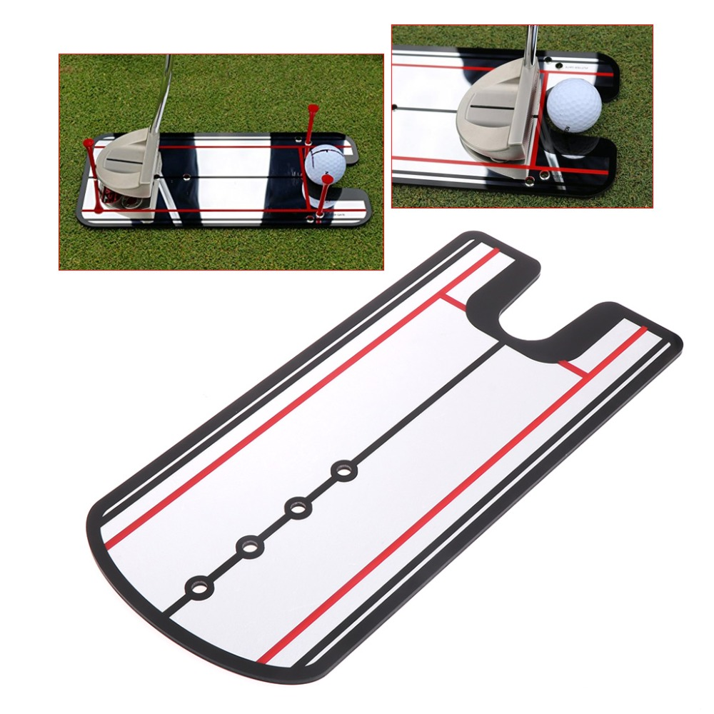 Golf Swing Practice Putting Mirror Alignment Training Aid Eye Line