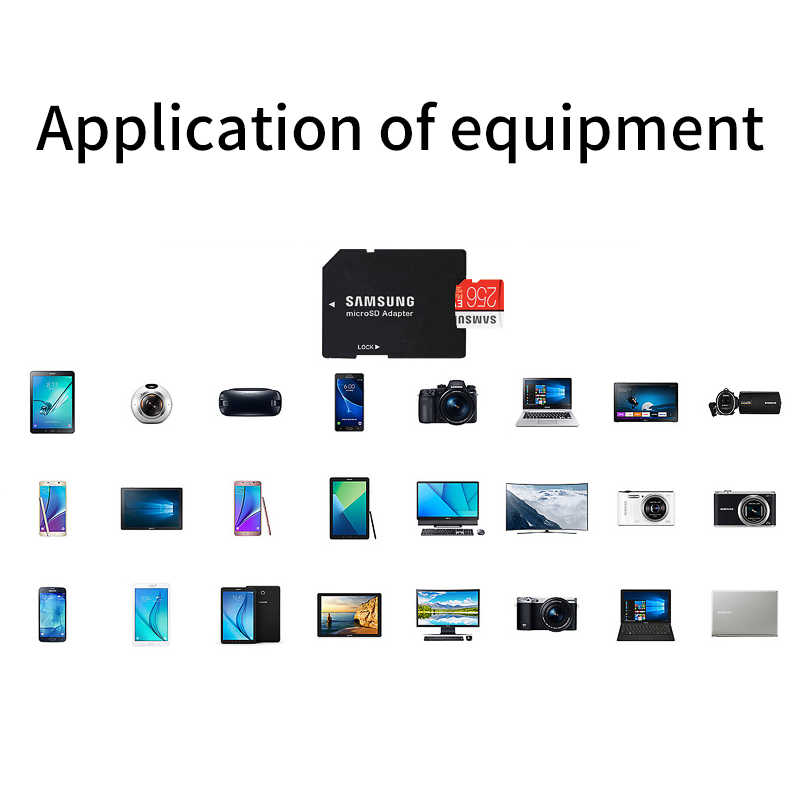 Thẻ Nhớ SAMSUNG Micro SD EVO PLUS 256 GB 128 GB 64 GB 32 GB SDHC SDXC Cấp Class10 C10 UHS-1 Thẻ TF Trans Flash 4 K nhớ MicroSD