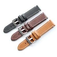 Men And Women Leisure Sports Calfskin 18mm 19mm20mm 21mm 22mm Handmade Strap Watchbands For Tissot Seiko