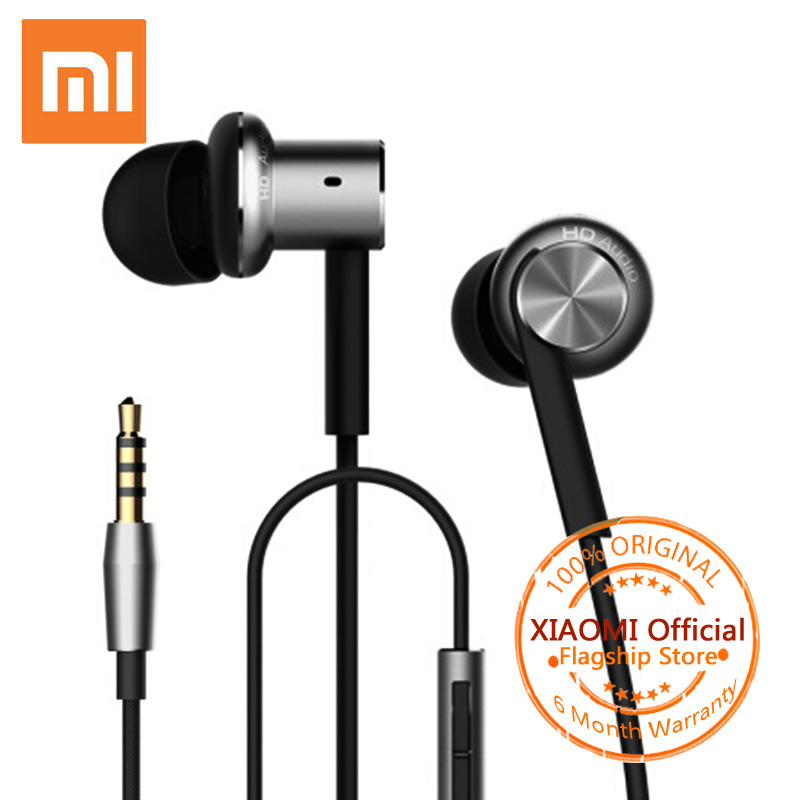 Xiaomi Mi Hybrid Earphone Bass In-Ear Sport Earphones with Mic for Xiaomi iPhone Samsung Headset Fone De Ouvido Auriculares MP3 baseus h03 in ear wired earphone headphone stereo hifi in line headset with mic for iphone xiaomi fone de ouvido kulakl k