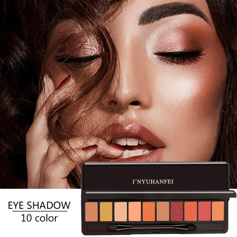 Natural Fashion eyeshadow palette 10 Colors Matte Eyeshadow Glitter eye shadow MakeUp set Cosmetics