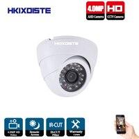 HKIXDISTE AHD CCTV Camera CCD IR Cut Filter White Black indoor Dome 24pcs IR Leds 4MP AHD Camera Surveillance Security Camera