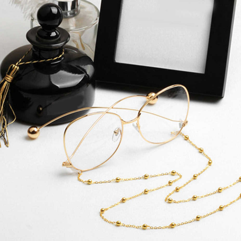 Fashion Womens Gold Silver Eyeglass Chains Sunglasses Reading Beaded Glasses Chain Eyewears Cord Holder neck strap Rope