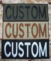 25 cm Custom naam Tape Tekst merk Borduren Haak Terug Van De Body patch
