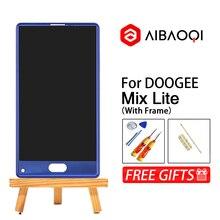 Nieuwe Originele 5.2 inch Touch Screen 1280X720 Lcd scherm + Frame + Vingerafdruk kabel Vergadering Vervanging Voor doogee Mix Lite Telefoon