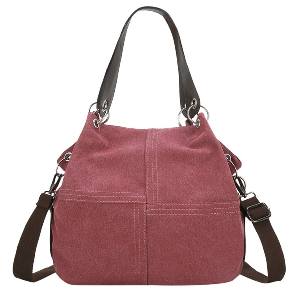 Fashion Women Girl Outdoor Canvas Pure Color Shoulder Bag Hand Bag Travel Bag Large Capacity Shoulder Bag bolsa femininaFashion Women Girl Outdoor Canvas Pure Color Shoulder Bag Hand Bag Travel Bag Large Capacity Shoulder Bag bolsa feminina