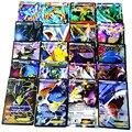 60 Unids/set carta Pokébolas Tarjetas Inglés Pokechu Ex Tarjetas juguetes Mega Eevee pikachu Squirtle Bulbasaur Charmander Charizard