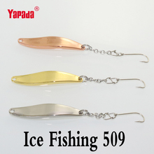 yapada ice fishing spoon bait fishing8g 50mm BKK hooks isca artificial metal jig winter fishing tackles leurre peche free ship