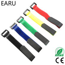 10pcs 8inch Self Adhesive Reusable Cable Tie Nylon Fastener Hook and Loop Strap Cord Ties PC TV Organizer 20cm Length 2cm Width цены онлайн