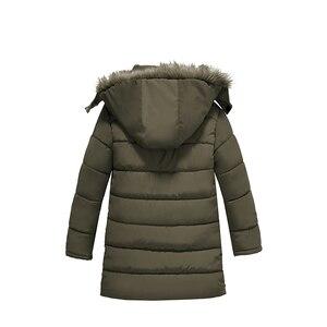 Image 4 - Ciepłe pogrubienie zimowe futro kołnierz dziecko płaszcz dziecięca odzież wierzchnia wiatroszczelne chłopięce dziewczęce kurtki dla 3 8 lat