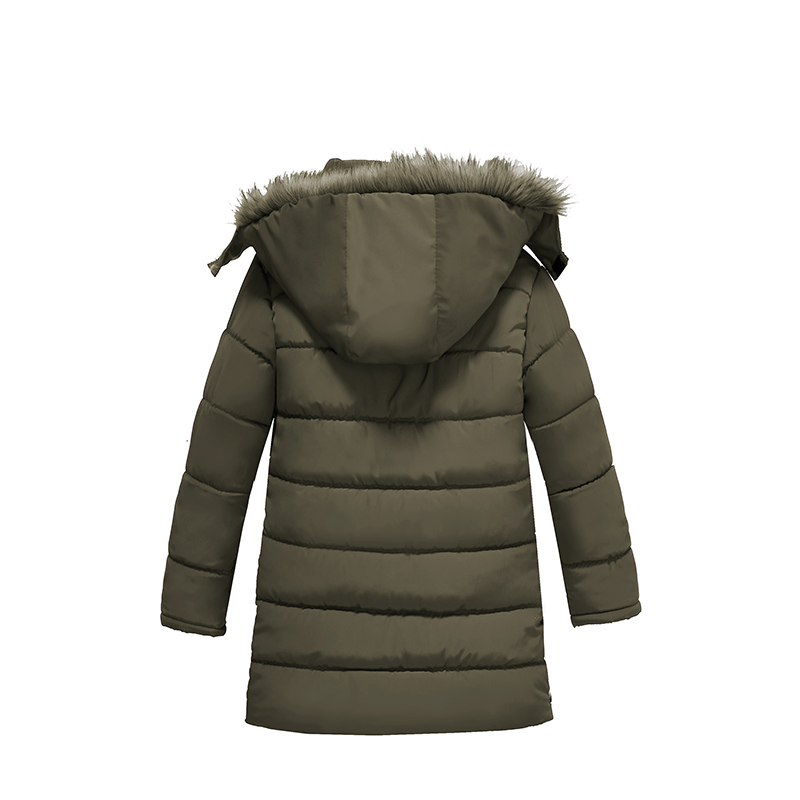 Image 4 - Warm Thickening Winter Fur Collar Child Coat Children Outerwear Windproof Baby Boys Girls Jackets For 3 8 Years Old-in Down & Parkas from Mother & Kids
