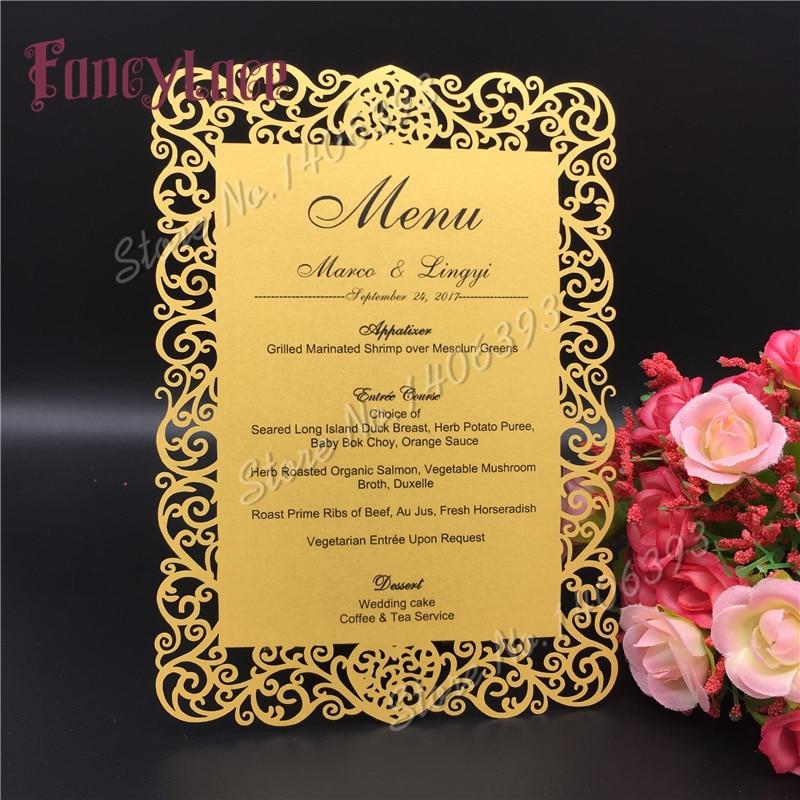 12x17cm Laser Cut Love Table Place Card Wedding Party Menu