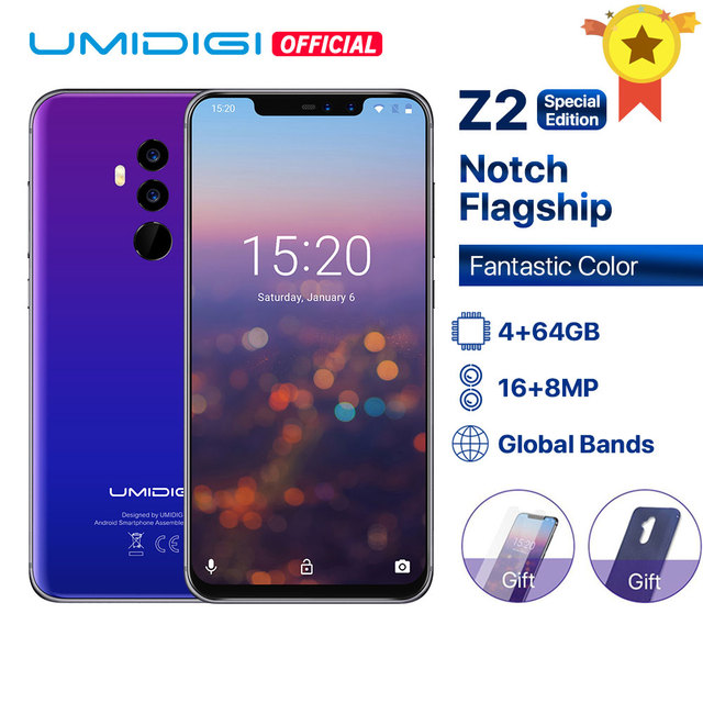 "UMIDIGI Z2 Special Edition Global Bands 6.2"" FHD+Full Screen Helio P23 4G+64GB F/1.7Big ApertureCamera Android 8.1 4G Smartphone"