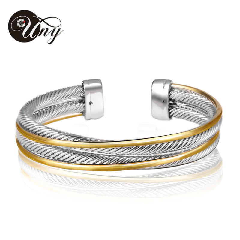 UNY Bracelet Vintage Twisted Cable Wire Bangle Fashion Brand Antique Designer Bracelets Unique Christmas Free Ship Cuff Bangles
