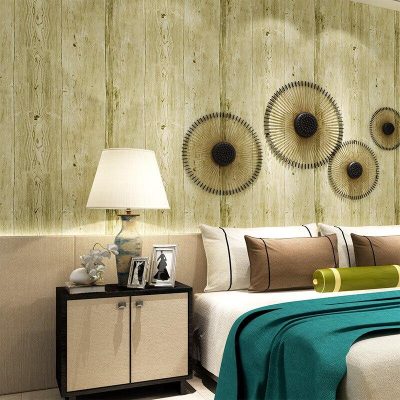 background study simple wood bedroom living pvc retro