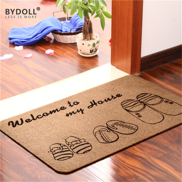 BYDOLL Doormat Carpet Machine Made Hot Sale New Design Entrance Door Mat Simple Thin Non
