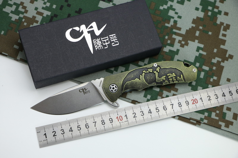 CH knife CH3504 Original folding knife S35VN blade Ceramic bearing washer TC4 handle hunting Knife outdoor survival knives black blade ceramic knife set chef s kitchen knives 4 size