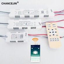 조광 및 색상 조정 원격 led 드라이버 rf 2.4g led 변압기 휴대 전화 app 컨트롤러 입력: AC180 265V 출력: DC60 135V