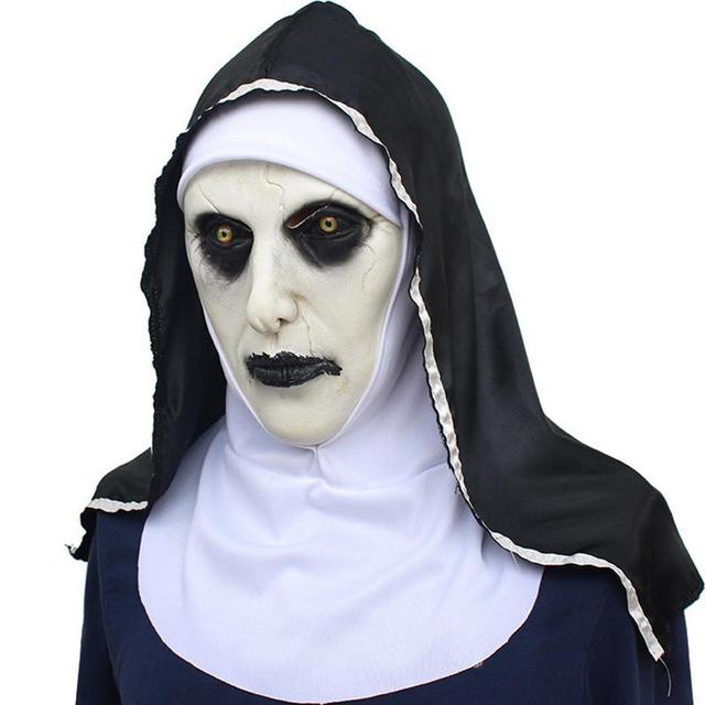 Halloween Masker.Nun Masker Bang Vrouwelijke Gezicht Pruik Ghost Festival