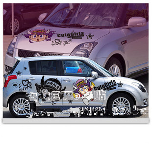 Online Shop New Hot Anime Car Stickers Anime Stickers Cute Girl Dr - Car anime stickers