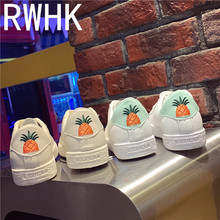 RWHK Cloth shoes female white 2019 spring new wild student women European and American style B365