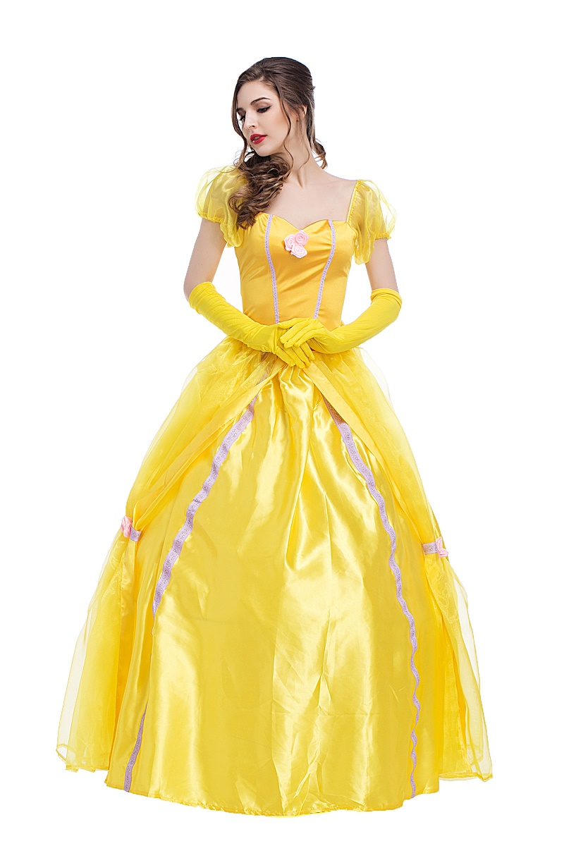 women belle costume adult beauty and the beast belle gown halloween costume yellow prom dress makeup clothing in movie tv costumes from novelty special
